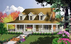 country house plans with wrap around porch farmhouse style house plans