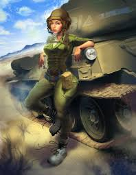 army tank pinup girl tutorial for 2d artist magazine on behance