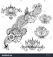 templates tattoo design mehndi elements floral stock vector
