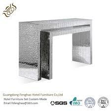 glass mirrored console table elegant crystal veneer compact glass mirrored console table for