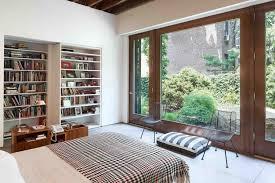 wall shelves with glass doors bedroom stunning design bookshelf in bedroom with white wooden