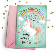 roald dahl magic quote greetings card by create yourself designs