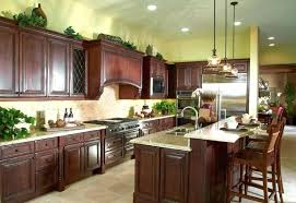 cherry mahogany kitchen cabinets cherry wood cupboards interior glass doors cooker hood dotted