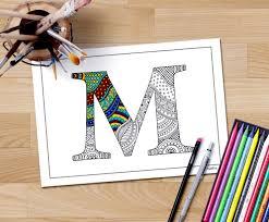 coloring book download zentangle alphabet letter