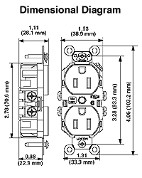 leviton 5662 i 15 amp 250 volt nema 6 15r 2p 3w narrow body