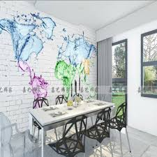 high quality wall map mural buy cheap wall map mural lots from free shipping 3d retro brick wall mural water drop wallpaper world map living room bedroom wallpaper
