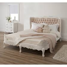 Bedframe With Headboard Bedroom White Bed Frame With Headboard Be Equipped With Antique