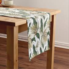 Leaf Table Runner Green Leaves Table Runners Zazzle