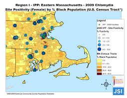 Eastern Massachusetts Map by Region I Infertility Prevention Project