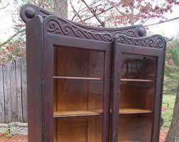 Bookcase Mahogany Antique Bookcase Etsy