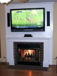 mounting a tv above a gas fireplace stone fireplace designs with above mounting lcd