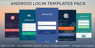 android login templates pack a pack of 10 login pages template