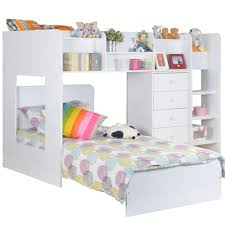 Bunk Beds L Shaped Wizard L Shaped Bunk Bed In White Beds Cuckooland