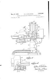 patent us2836086 clamping and elevating apparatus for machine