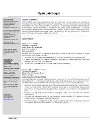 Sample Resume For Kindergarten Teacher by Senior Business Analyst Resume Sample Resume For Your Job