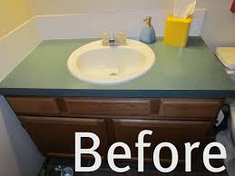 how to paint bathroom vanity top
