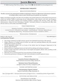 Sample Physical Therapy Resume by Respiratory Therapist Resume Sample Jennywashere Com