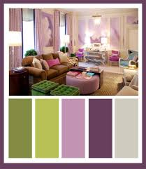 what colors go with lavender purple and green bedroom walls plants