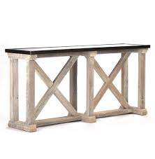 valerya zinc top chunky rustic solid wood console table kathy