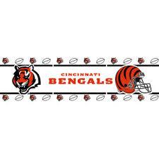 nfl cincinnati bengals football self stick wall border roll