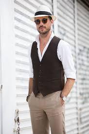 tailored waistcoat u0026 linen pants he spoke style