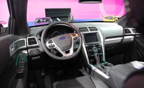 Ford Explorer Dashboard - interior folding third row seats fold flat but do not stow away