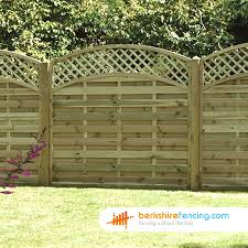 convex arched lattice top fence panels 3ft x 6ft natural