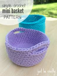 Free Crochet Patterns For Home Decor Simple Crochet Mini Basket Pattern Free Pattern By Simple