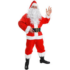santa claus costume 7 deluxe santa claus fancy dress costume velour santa