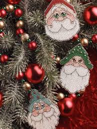 plastic canvas ornaments santa ornaments