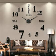 gufan modern mute diy large wall clock 3d sticker home office