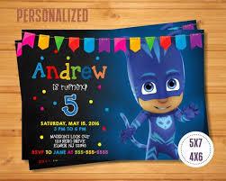 pj masks invitation birthday printable pj masks pj mask pj