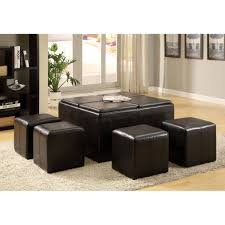 Leather Ottoman With Storage And Tray by Coffee Table Magnificent Ottoman Cocktail Table Footstool Coffee