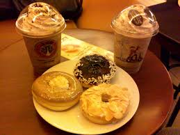 Coffe J Co coffee and donuts we give in sometimes