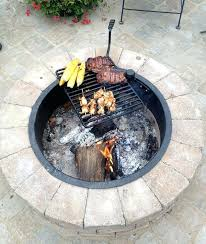 Cooking Over Fire Pit Grill - fire pit with grill top this adjustable fire pit cooking grate is