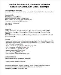 Sample Financial Controller Resume by 29 Executive Resumes In Word