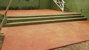 Brushed Concrete Patio Cleaning And Staining A Concrete Patio Or Porch Today U0027s Homeowner