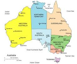map of austrailia australia map simple major tourist attractions maps