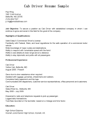 truck driver resume sample taxi driver resume templates radiodigital co