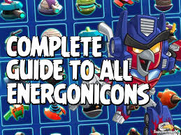 angry birds transformers complete guide to all energonicons
