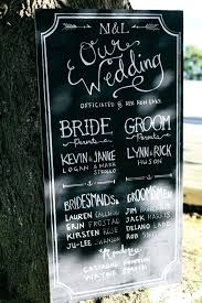 wedding program board chalkboard table sign 17 best ideas about wedding program