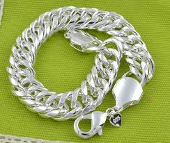 silver chain bracelet men images 10mm 925 sterling silver chain bracelet fashion men 39 s jewelry jpg
