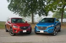 mazda crossover vehicles 2016 mazda cx 5 vs 2016 hyundai tucson autoguide com news