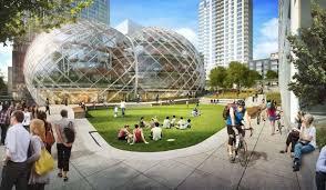 siege amazon amazon s offre un siège social futuriste et écolo