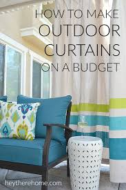 Diy Cheap Curtains Diy Outdoor Curtains Tutorial How To Make Outdoor Curtains From