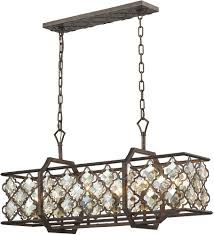 Linear Island Lighting Elk 31098 6 Armand Weathered Bronze Kitchen Island Lighting Elk