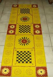 Country Primitive Rugs 11 Best Floor Cloths Images On Pinterest Painted Floor Cloths