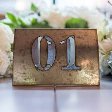 Laser Cut Table Numbers Metal Table Numbers Industrial Table Numbers Weddingstar