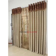 graceful striped champagne energy saving curtains of polyester