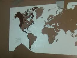 diy painting world map on the wall